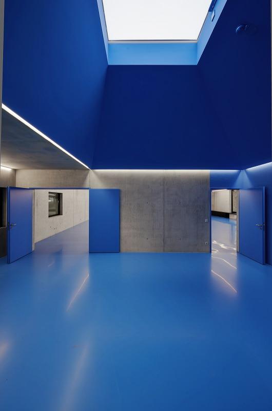 Neubau für die Freiwillige Feuerwehr, Waiblingen-Neustadt. Fertigstellung Frühjahr 2016. Architektur: Bernd Zimmmermann Architekten, Luwigsburg.
