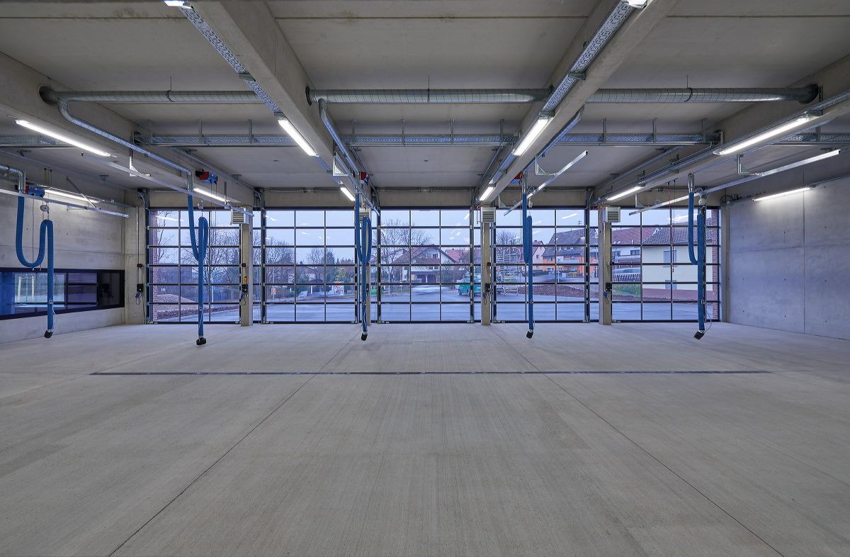 Neubau für die Freiwillige Feuerwehr, Waiblingen-Neustadt. Fertigstellung Frühjahr 2016. Architektur: Bernd Zimmmermann Architekten, Luwigsburg